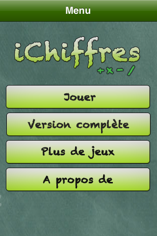 Screenshot iChiffres LITE